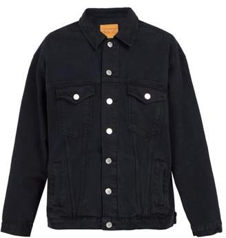 Martine Rose Oversized Denim Jacket - Mens - Black