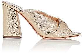Loeffler Randall Women's Laurel Crinkled Leather Mules - Gold