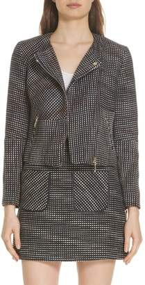 Ted Baker Colour by Numbers Julio Boucle Moto Jacket