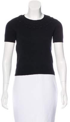 Alberta Ferretti Short Sleeve Knit Top
