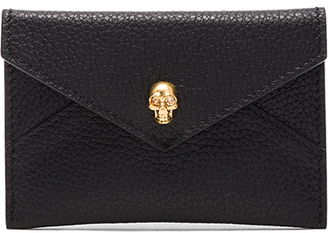 Alexander McQueen Skull Envelope Card Holder $195 thestylecure.com