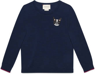 Children's merino sweater with dog $280 thestylecure.com