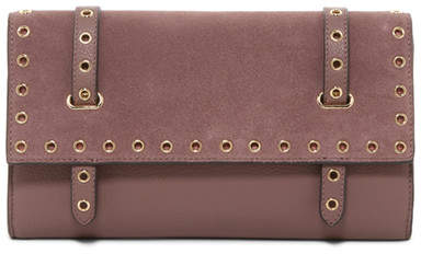 Vince Camuto Areli Leather & Suede Clutch
