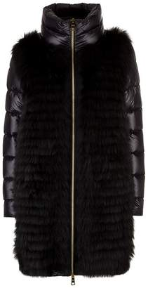 Herno Fox Fur Front Padded Coat