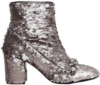 N°21 70mm Embellished Sequins Ankle Boots