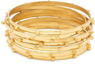 SYLVIA TOLEDANO Gold-plated multi-bangle set
