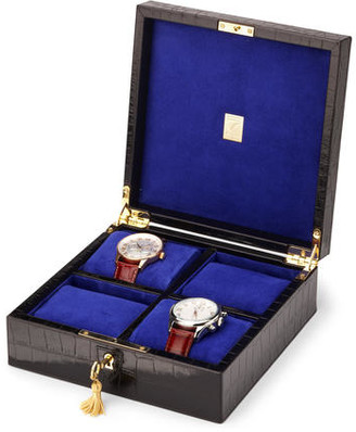 Aspinal of London Square Four Watch Box