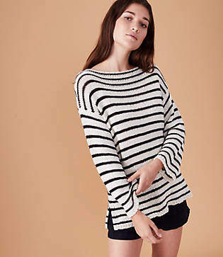 Lou & Grey Striped Tunic Sweater