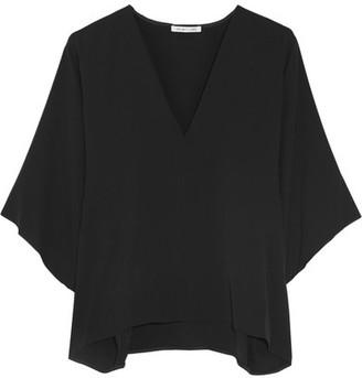 Helmut Lang - Silk-georgette Blouse - Black $345 thestylecure.com
