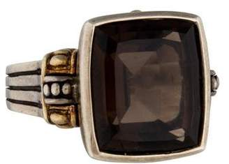 Lagos Smoky Quartz Caviar Ring