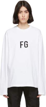 Fear Of God White FG Long Sleeve T-Shirt