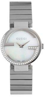 Gucci Crystal Studded Round Bracelet Watch