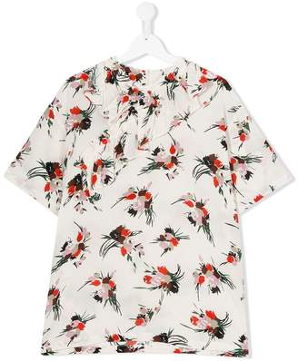 Marni floral short-sleeve blouse