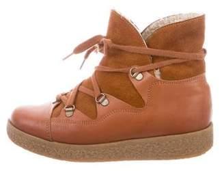 Ganni Cap-Toe Ankle Boots
