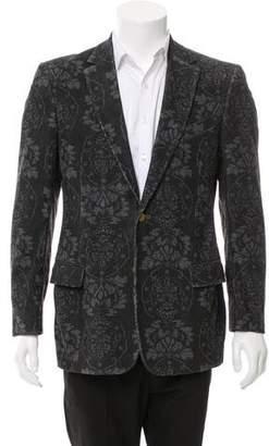 Dolce & Gabbana Floral Print Corduroy Jacket