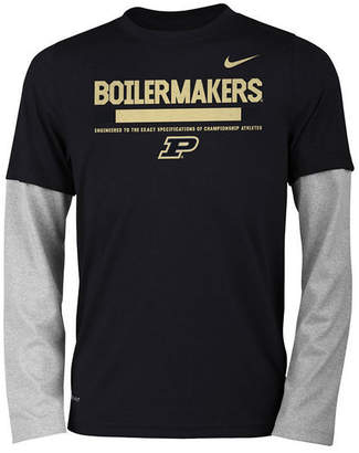 Nike Purdue Boilermakers Legend Long Sleeve Staff T-Shirt, Boys (8-20)