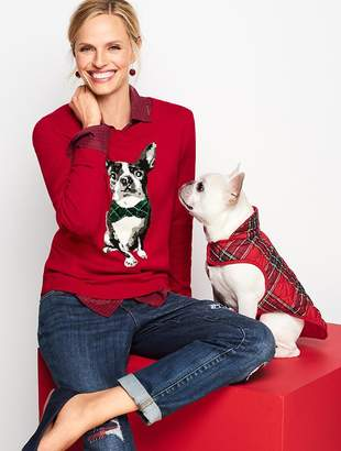 Talbots Tartan Terrier Sweater