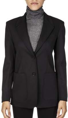 Dondup Black Wool Blend Blazer