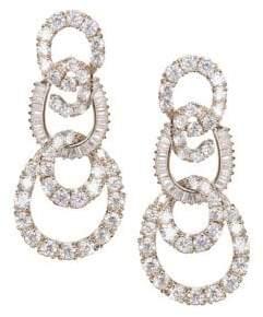 Nina Amala Crystal Three-Tier Interlocking Swirl Drop Earrings