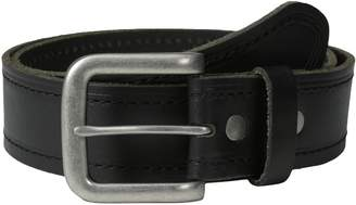Bill Adler Men's Stitched and Heat Creased Leather Belt