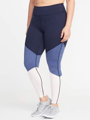 Old Navy High-Rise Plus-Size Color-Block Compression Leggings