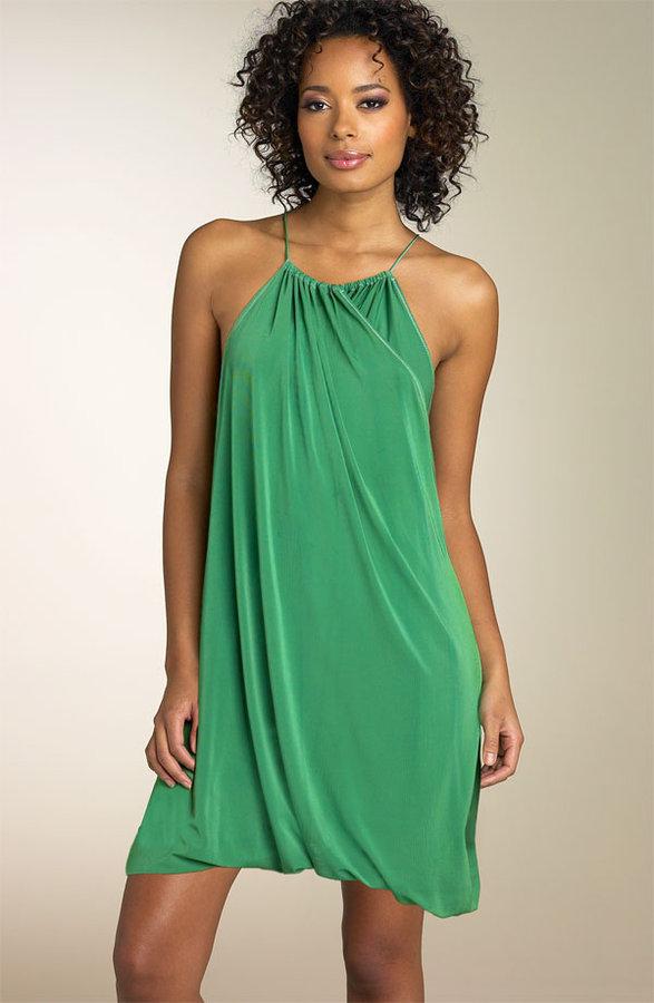 Nicole Miller Matte Jersey Bubble Hem Dress