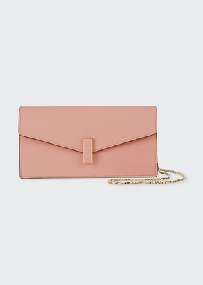 Valextra Iside Leather Envelope Clutch Bag