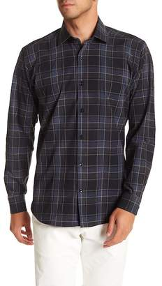Jared Lang Check Patterned Woven Shirt