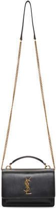 Saint Laurent Black Sunset Wallet Chain Bag