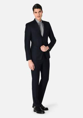 Emporio Armani Single-Breasted Wool Jacket