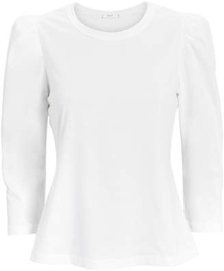 A.L.C. Karlie Puff Shoulder White T-Shirt