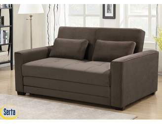 Serta Winston Full Tufted Back Convertible Sofa