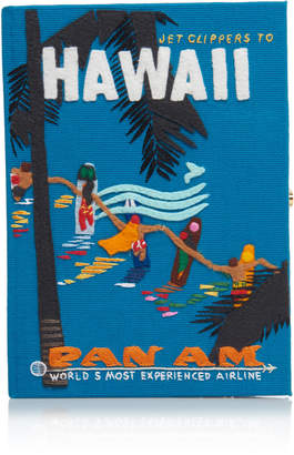 Olympia Le-Tan Embroidered Hawaii Clutch