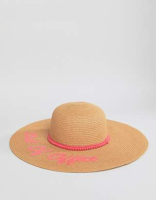 Boardmans Floppy Beach Hat With Out Of Office Slogan