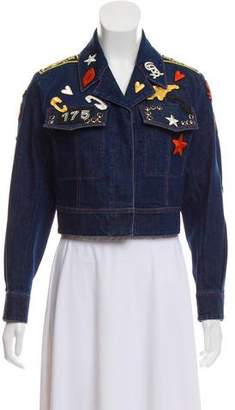 Sonia Rykiel 2016 Embroidered Denim Jacket w/ Tags