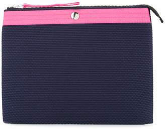 Cabas colour block clutch bag