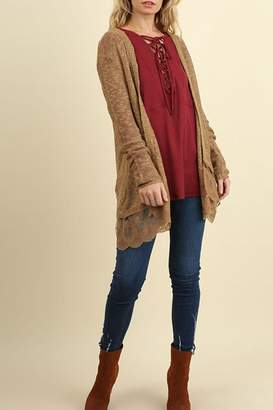 Umgee USA Lace Long Line Cardigan
