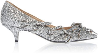 N°21 N 21 Metallic Bow Kitten Heel Pump