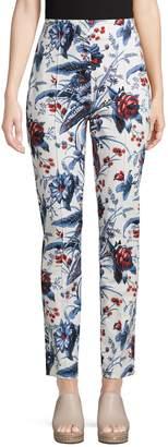 Diane von Furstenberg Floral-Print Cotton Blend Pants