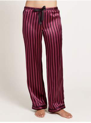 Morgan Lane Chantal Pant In Amaranth Stripe
