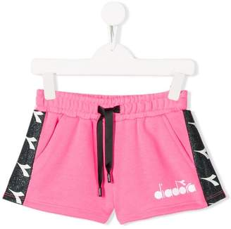 Diadora Junior side panelled track shorts
