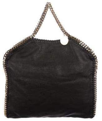 Stella McCartney Vegan Leather Fold-Over Falabella Tote