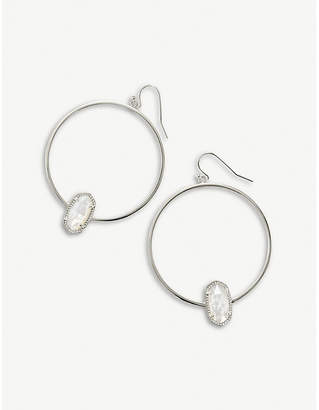 Kendra Scott Elora silver and ivory mother-of-pearl earrings