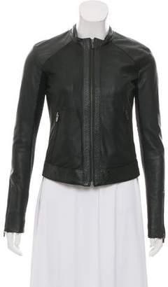 Veda Textured Leather Jacket