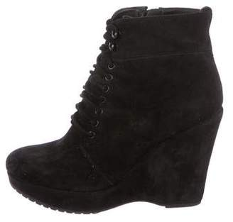 BCBGMAXAZRIA Suede Wedge Booties