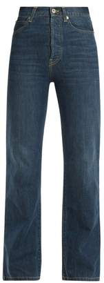 Eve Denim - Juliette High Rise Straight Leg Denim Jeans - Womens - Dark Blue