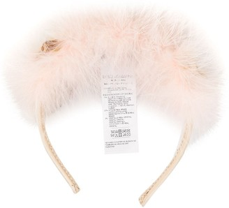 Dolce & Gabbana feather and flower headband