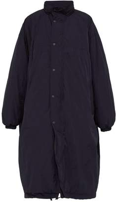 Balenciaga Technical Padded Raincoat - Mens - Navy