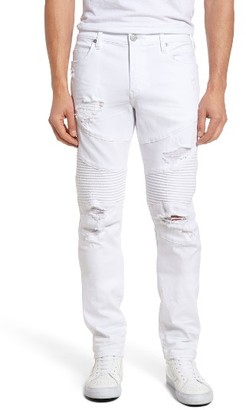 Men's True Religion Brand Jeans Rocco Skinny Fit Moto Jeans $299 thestylecure.com