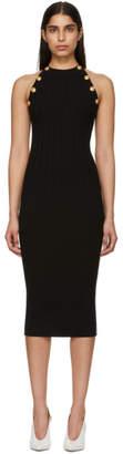 Balmain Black Buttoned Knit Dress